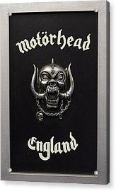 Motorhead England Acrylic Print by Jerry Cordeiro