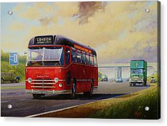 Motorway Express 1959. Acrylic Print by Mike  Jeffries