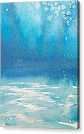 Acrylic Print featuring the painting Motu Ahuna by Ed  Heaton