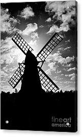 Moulin Noir- Monochrome Acrylic Print