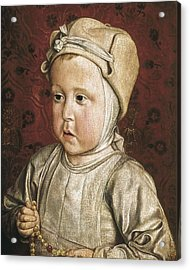 Moulins, Master Of 1450-1505. Portrait Acrylic Print by Everett
