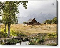 Moulton Barn At Mormon Row Acrylic Print by Geraldine Alexander
