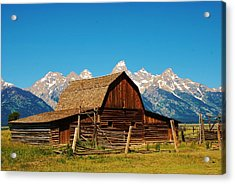 Acrylic Print featuring the photograph Moulton Barn by Dany Lison