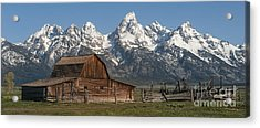 Moulton Barn - Grand Tetons I Acrylic Print by Sandra Bronstein