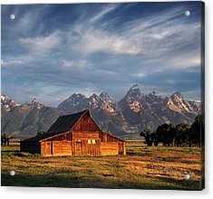 Moulton Barn Morning Light Acrylic Print