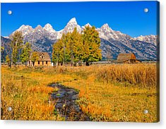 Moulton Homestead Acrylic Print by Greg Norrell