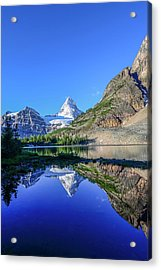 Mount Assiniboine And Mount Magog Acrylic Print