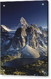 Mount Assiniboine And Sunburst Lake Acrylic Print