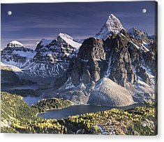 Mount Assiniboine In The Fall Acrylic Print by Richard Berry