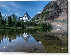 Mount Assiniboine Reflected In Sunburst Acrylic Print
