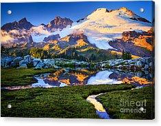 Mount Baker Reflection Acrylic Print