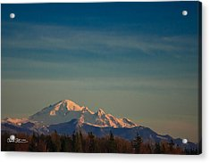 Mount Baker Sunset Acrylic Print by Charlie Duncan