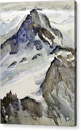 Acrylic Print featuring the painting Mount Blanc by Ed  Heaton