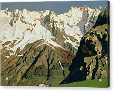 Mount Blanc Mountains Acrylic Print by Isaak Ilyich Levitan