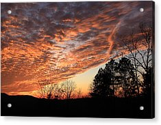 Mount Cheaha Sunset-alabama Acrylic Print by Mountains to the Sea Photo