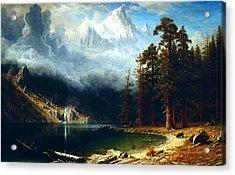 Mount Corcoran Acrylic Print by Albert Bierstadt
