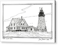 Mount Desert Rock Lighthouse Acrylic Print by Ira Shander