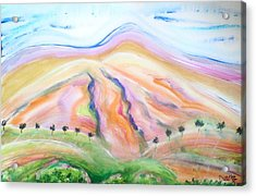 Acrylic Print featuring the painting Mount Diablo by Carol Duarte