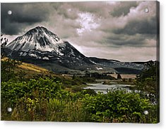 Mount Errigal Acrylic Print by Jane McIlroy