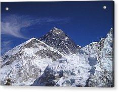 Mount Everest Acrylic Print by Jan Wolf