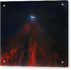 Mount Fuji By Night 2003 Acrylic Print