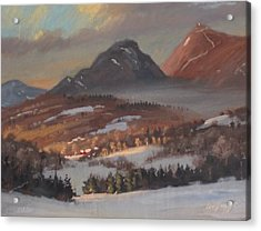 Acrylic Print featuring the painting Mount Greylock From Clarksburg by Len Stomski