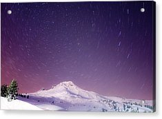 Mount Hood And Stars Acrylic Print