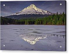 Mount Hood Reflections Acrylic Print by Rick Berk