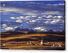 Mount Kailash And Chiu Gompa - Tibet Acrylic Print by Craig Lovell