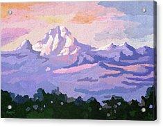 Mount Kenya At Dawn Acrylic Print