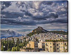 Acrylic Print featuring the photograph Mount Lycabettus In Late Afternoon by Micah Goff