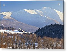 Mount Mansfield Winter Acrylic Print by Alan L Graham