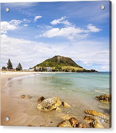 Mount Maunganui Bay Of Plenty New Zealand Acrylic Print by Colin and Linda McKie