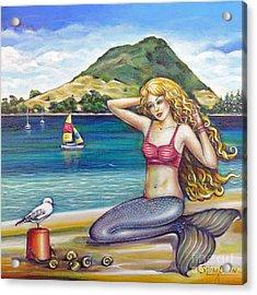Mount Maunganui Beach Mermaid 160313 Acrylic Print