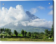Mount Mayon Volcano, Legazpi, Southern Acrylic Print