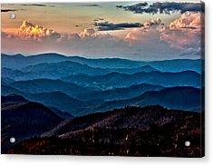 Acrylic Print featuring the photograph Mount Mitchell Sunset by John Haldane