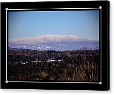 Mount Moosilauke Snowy Blanket Acrylic Print