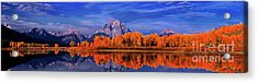 Mount Moran And Fall Color Grand Tetons Acrylic Print by Dave Welling
