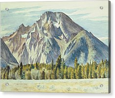 Mount Moran Acrylic Print by Edward Hopper