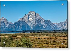 Mount Moran Acrylic Print by John M Bailey