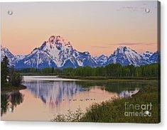 Mount Moran Sunrise Acrylic Print