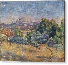 Mount Of Sainte-victoire, C.1888-89 Acrylic Print