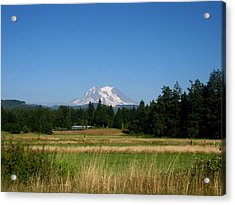 Mount Rainier 8 Acrylic Print by Kathy Long