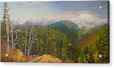 Mount Rainier  Early Morning Cascades Washington Acrylic Print