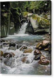 Mount Rainier Falls Acrylic Print