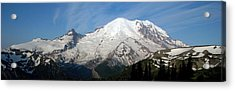 Acrylic Print featuring the photograph Mount Rainier From Sunrise by Bob Noble Photography