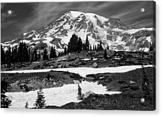 Mount Rainier From The Paradise Visitor Center Acrylic Print by Bob Noble