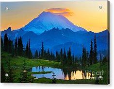 Mount Rainier Goodnight Acrylic Print