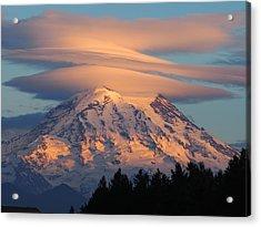Mount Rainier In November  Acrylic Print