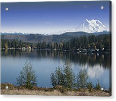 Mount Rainier In The Fall Acrylic Print by Ron Roberts